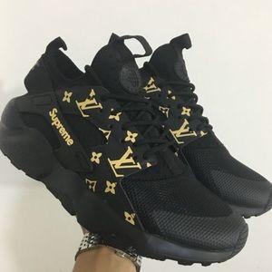 Lv X Supreme X Nike Air Huarache
